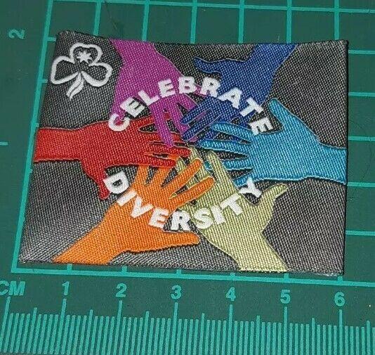 Celebrate Diversity Girl Guides Australia Badge Hands