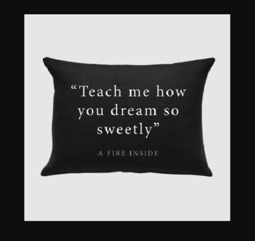 "AFI pillow case ""Teach me how you dream so sweetly MADE IN USA OFFICIAL PRODUCT"