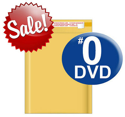 Size 0 6.5x10 Kraft Bubble Mailer Dvd Cd Wide 250 X 2 500 Qty Ships Today