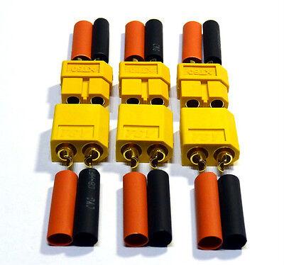 6 Stück 3 Paar Nylon XT60 Hochstrom Stecker Lipo Akku ESC inkl. Schrumpfschlauch