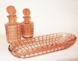 ancien necessaire de toilette coupelle flacon a parfum en cristal de baccarat ebay. Black Bedroom Furniture Sets. Home Design Ideas