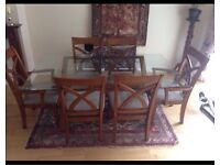 Excellent beautiful glass dinning table and 6chsirs