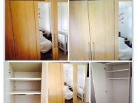 Double wardrobe with mirrors