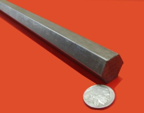"1215 Carbon Steel Hex Rod 13/16"" Hex x 3 Foot Length"