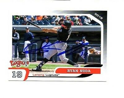 Ryan Noda Signed Autographed 2018 Lansing Lugnuts Team Set Card Volo  Il