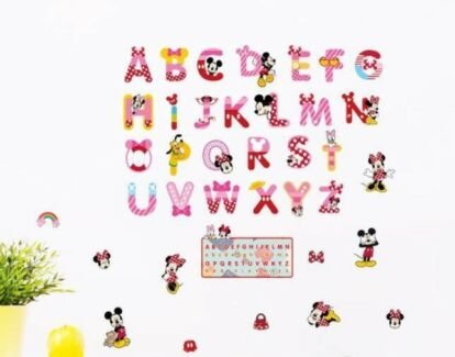 Minnie and Mickey Mouse alphabet decal