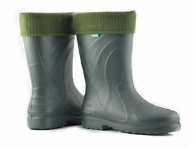 Demar Wellington Boots for Women's, model Luna - Green color with warm fiber inside