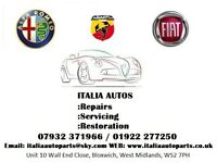 Italia Autos, Alfa Romeo, Abarth and Fiat Servicing and Repairs. West Midlands