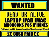 RECYCLE FOR CASH Faulty / Broken Laptop / Macbook / ipad Etc