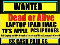 RECYCLE FOR CASH Faulty / Broken Laptop / Macbook / ipad Etc