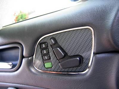 D Mercedes CLK W208 Chrom Rahmen für Sitzschalter Tür - Edelstahl poliert