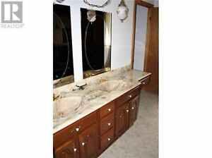 Solid wood double sink vanity