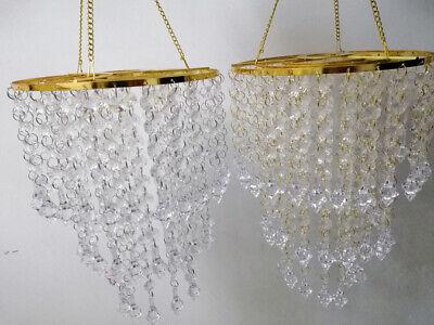 1Pcs Acrylic Beads Gold Centerpiece Frame Shelf Chandelier Wedding Party Decor](Chandelier Frame)