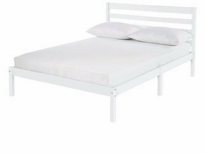 Argos White Small Double Bed Frame And Mattress In Putney London