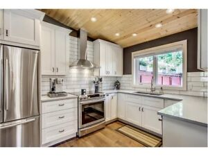 Solid wood kitchen cabinets with soft closing doors/draws