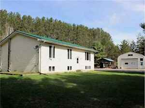 House & Heated Garage/Storage/Workshop on 2 Acres