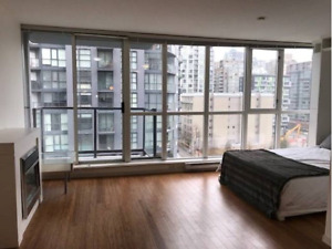 Yaletown Vancouver Furnished Condo Rental - pool and park view