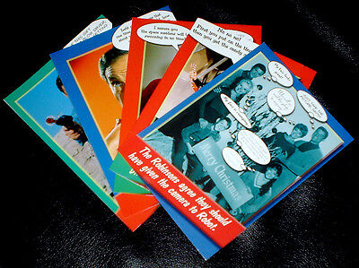 LOST IN SPACE CHRISTMAS CARD CARDS SET OF 5 CARDS W ENVELOPES NEW UNUSED