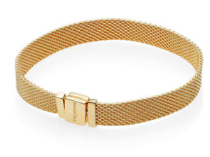 NIB PANDORA Reflexion Bracelet - gold + charm - $200