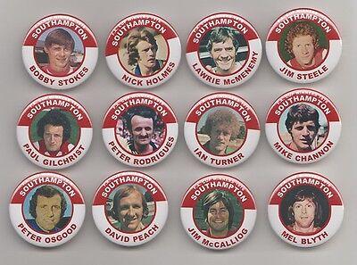SOUTHAMPTON FC  F.A. CUP WINNERS 1976 FRIDGE MAGNETS   X 12  38mm  IN SIZE