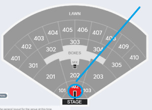 3 x 2 Corey Hart @ Budweiser Stage- SECTION 102-ROW P/M/D!!