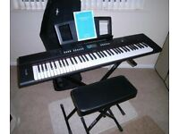 Yamaha Piaggero NPV60 Keyboard and accessories.