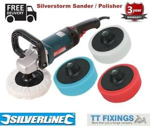 Silverline Mop Trade Car Polisher Buffer Kit with 5 heads