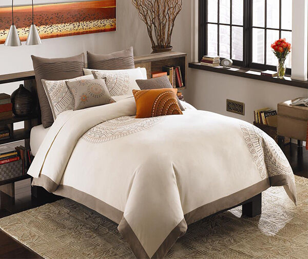 Duvet Covers Bedding Sets EBay - Brown pattern bedding double duvet set calvin klein bamboo bedding