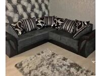 🚚HOME DELIVERY🚚 BRAND NEW SHANNON LEATHER CHENILLE CORNER OR 3+2 SOFA SET