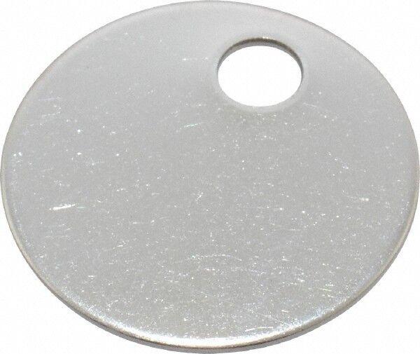C.H. Hanson 1 Inch Diameter, Round, Stainless Steel Blank Metal Tag