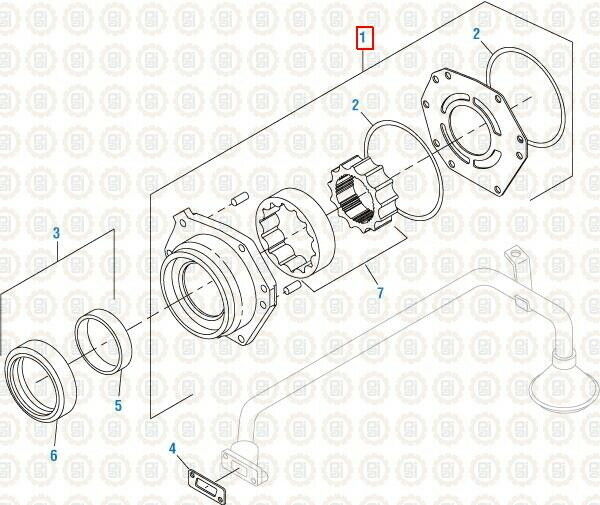 Oil Pump for International DT466 up to '93. PAI 441201 Ref