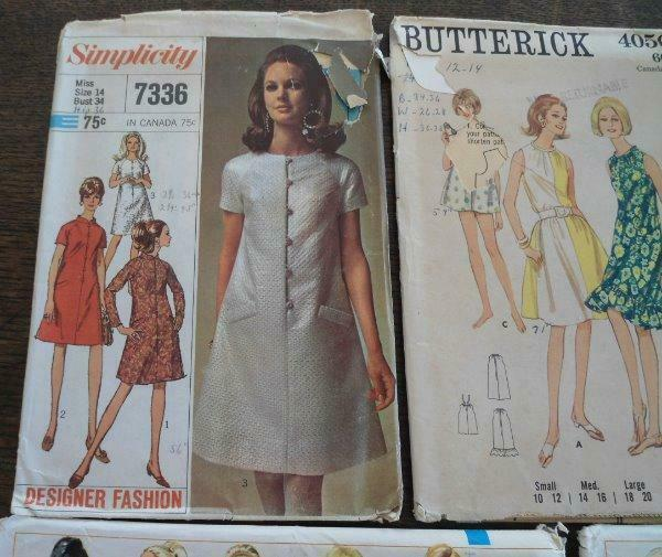 Vintage Lot UC 1960s Sewing Patterns Coats Dress Ladies Simplicity Designer