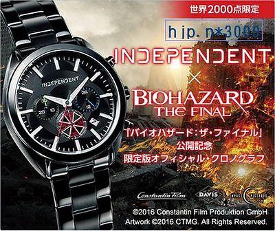 INDEPENDENT × BIOHAZARD THE FINAL Movie S.T.A.R.S Wrist Watch LTD Japan RARE!!