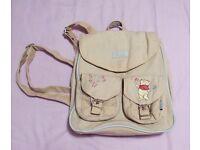 Winnie the Pooh child's rucksack multi pockets cute with tatty teddy keyring