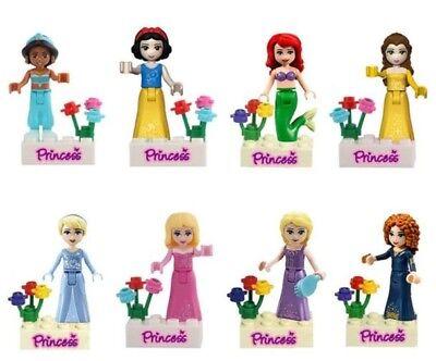 Elsa Snow Princess (Princess Mermaid Elsa Belle Snow White Jasmin Minifigures friends Lego)