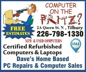 Dave's Home Based PC Repairs & Computer Sales