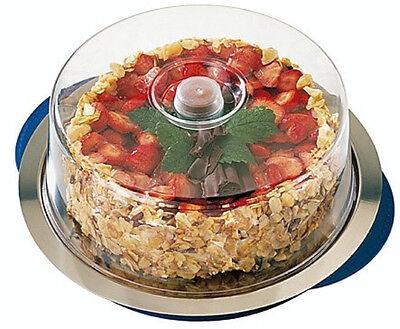 Kühltablett Thermotablett Tortenplatte  mit Cloche Kühlakku und Tablett 35 cm
