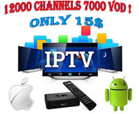 IPTV SERVICE WITH 12000  HD 4K CHANNELS !