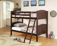 Panel bunk bed, splitable, solid wood, mattresses available NEW