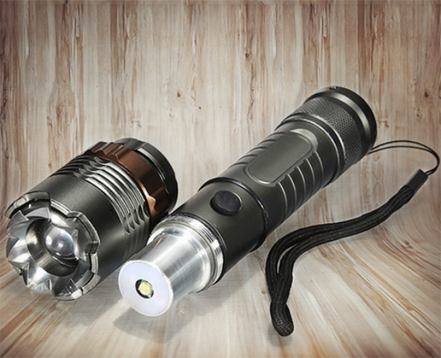 LED Flashlight 250000LM Rechargeable Tactical Hiking T6 Torch+18650 Batt+Charger