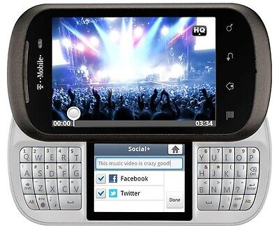 LG Doubleplay C729 Mud-slide QWERTY T-Mobile Gray New Condition Smartphone