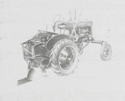 Ih Regular A Mccomick Deering Farmall A-91 1 Bottom Mounted Turning Plow Manual