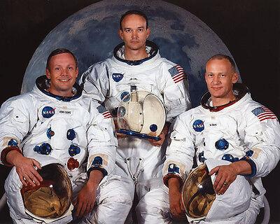 Astronauts Apollo 11 BUZZ ALDRIN NEIL ARMSTRONG MICHAEL COLLINS 8x10 Photo Moon