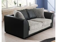 Grey Black 3 plus 2 sofa BRAND NEW boxed free delivery Dylan