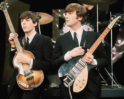 THE BEATLES John Lennon & Paul McCartney Glossy 8x10 Photo Music Print Poster