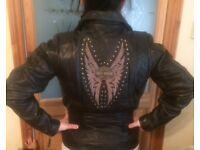 original Harley Davison ladies real leather jacket , black,size small