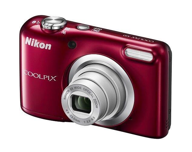 Kompaktkamera Nikon COOLPIX A10 KIT rot mit Tasche NEUWARE 5x Zoom 16.1MP