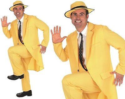 Herren gelb Zoot Anzug Maskenkostüm Die Maske Outfit NEU FS
