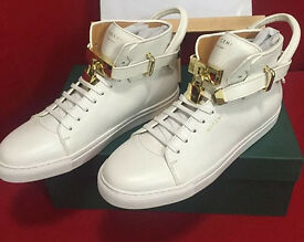 Buscemi white and Gold 100 mm Sneakers size 10