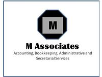 M Associates,Accounting,Bookkeeping,Administrative and Secretarial Services